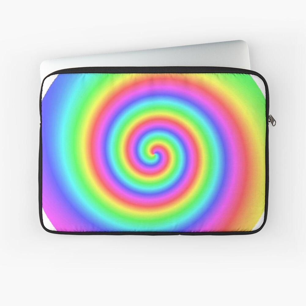 #vortex, #design, #spiral, #creativity, fun, illustration, shape, color image, circle, geometric shape Laptop Sleeve
