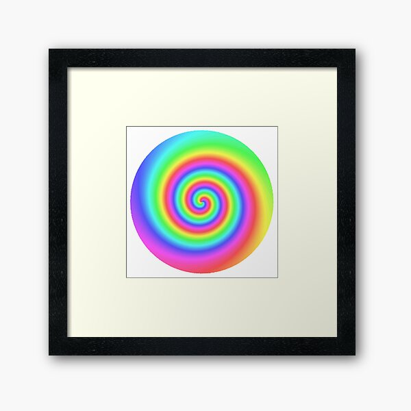 #vortex, #design, #spiral, #creativity, fun, illustration, shape, color image, circle, geometric shape Framed Art Print