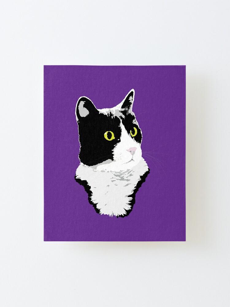 Alternate view of Regal Tuxedo Kitty Mounted Print