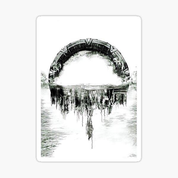 Stargate Atlantis Gate et la ville Sticker