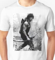 Rambo Stallone Autographed Photo B/W 1980's T-Shirt