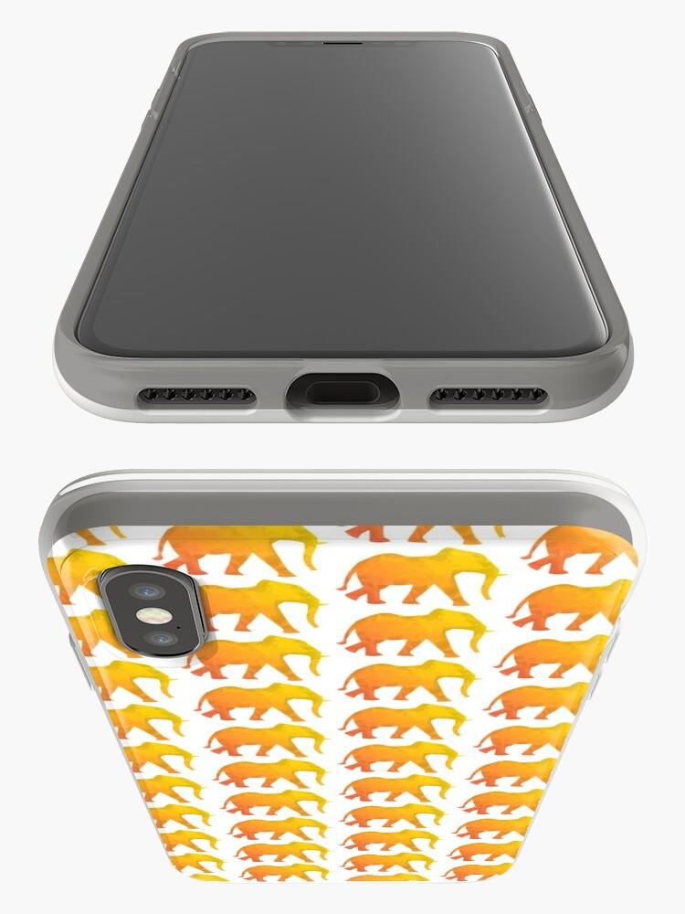 Alternative Ansicht von Elefant bunt, abstrakt,  kubistisch, Dickhäuter gelb und orange, kreativ iPhone-Hülle & Cover