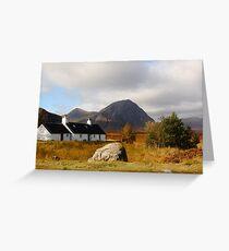 Black Rock Cottage Glen Coe Greeting Card