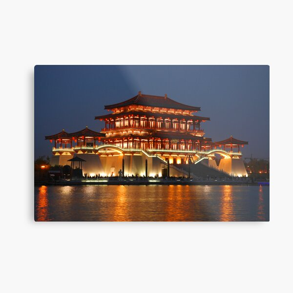 Tang Dynasty Shopping Centre, Xian Metal Print