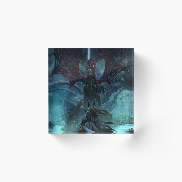 Death Lurks in the Light of the Darkness [Monster Hunter] Acrylic Block