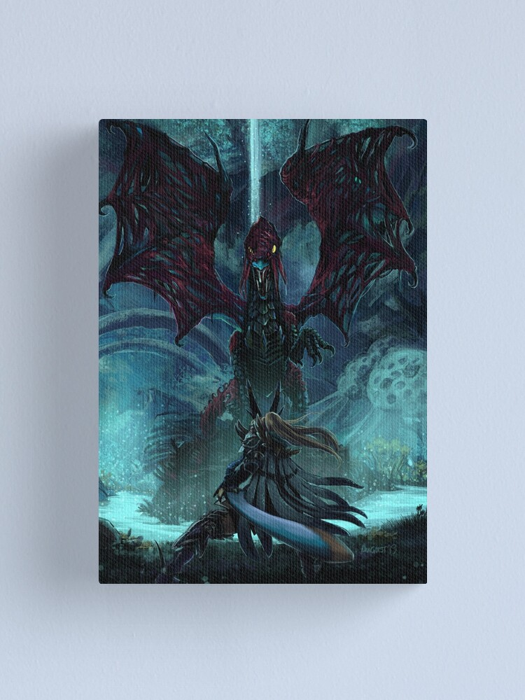 Alternate view of Death Lurks in the Light of the Darkness [Monster Hunter] Canvas Print