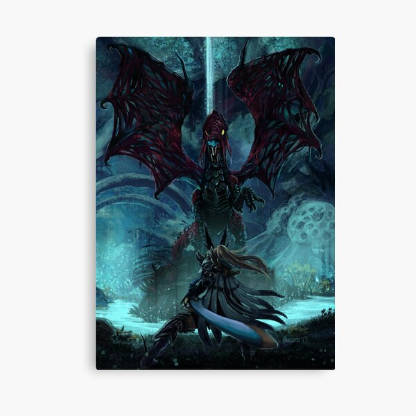 Death Lurks in the Light of the Darkness [Monster Hunter] Canvas Print