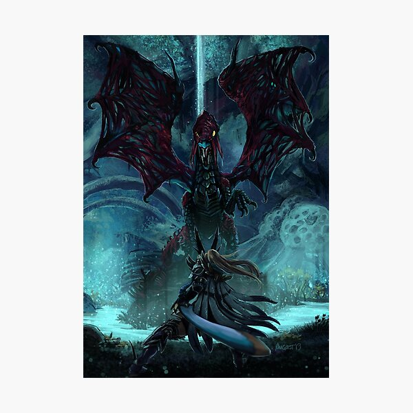 Death Lurks in the Light of the Darkness [Monster Hunter] Photographic Print