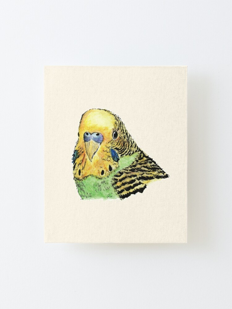 Alternate view of Prettyboy the Green Parakeet Mounted Print
