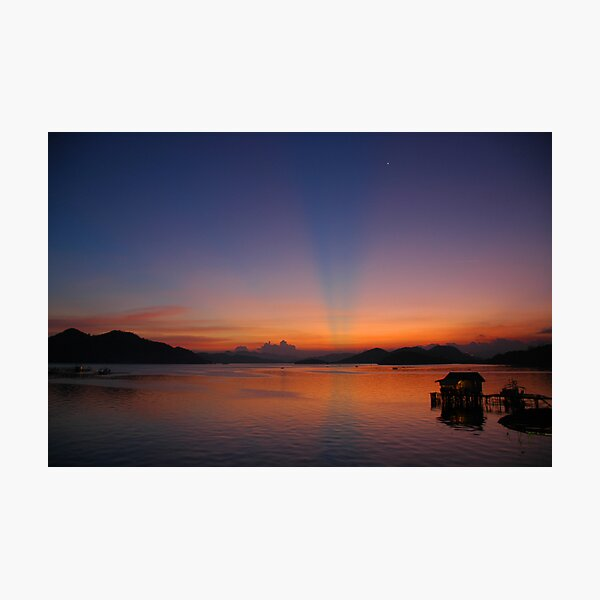 Sunset over Coron Harbour Photographic Print