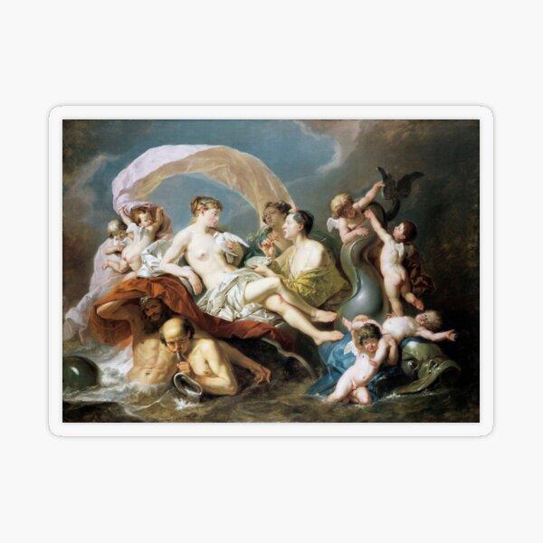 #Art, #illustration, #renaissance, #painting, people, Aphrodite, Venus, cherub, cupid, color image, men, males, women Transparent Sticker