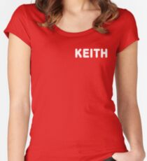 'KEITH' MOON Shirt Women's Fitted Scoop T-Shirt