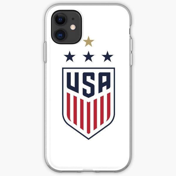 USWNT 4-Star Logo (Large) iPhone Soft Case