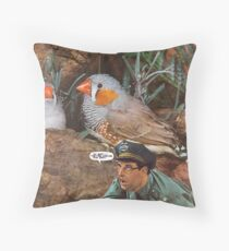 M Blackwell - They're Coming This Way! Throw Pillow