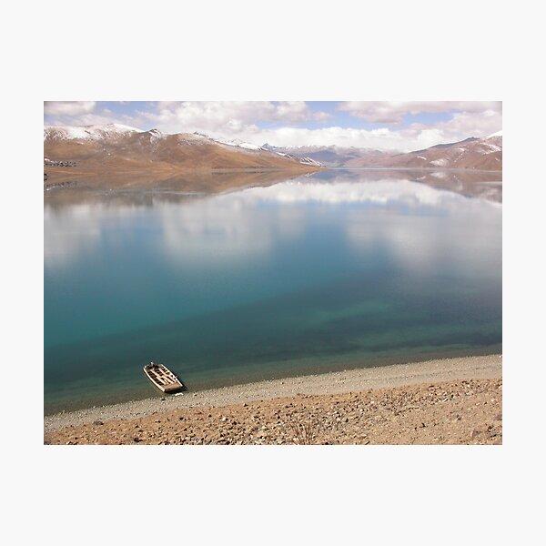 Turquoise Lake, Tibet Photographic Print