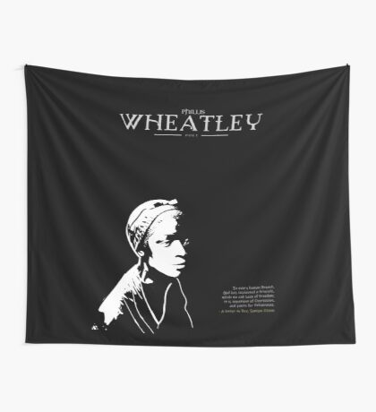 A Quote By Phillis Wheatley Wall Tapestry