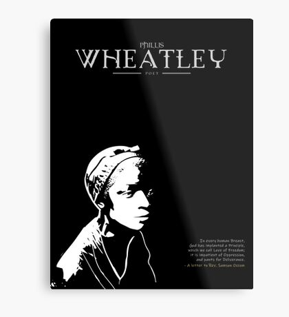A Quote By Phillis Wheatley Metal Print