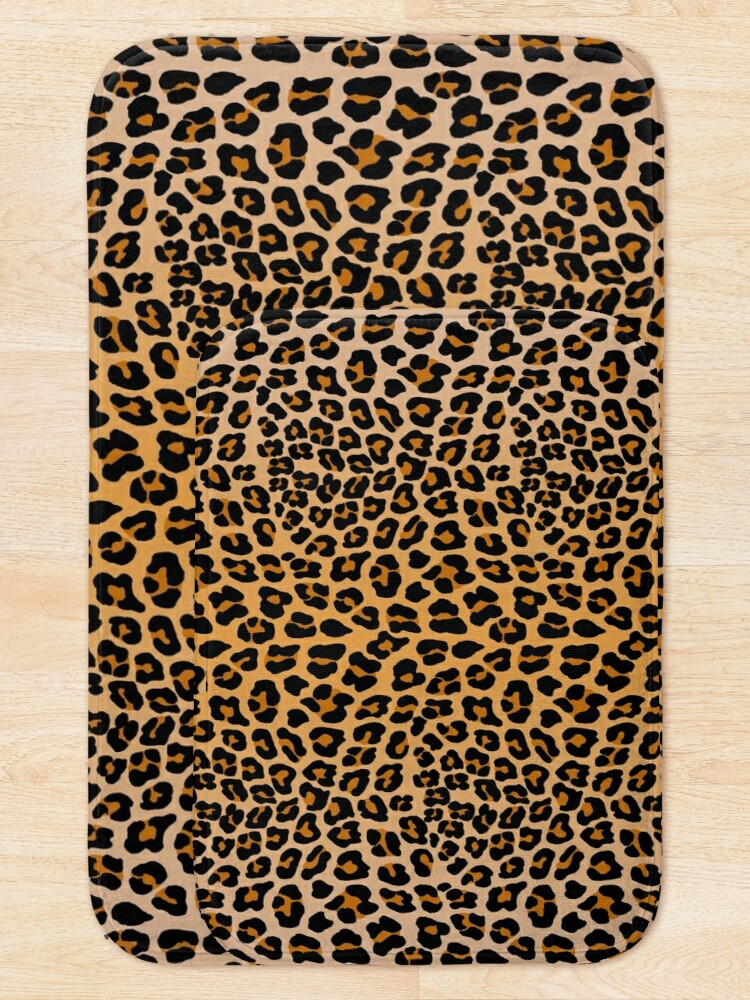 Alternate view of Leopard print Bath Mat