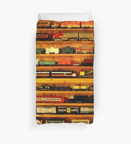 many trains Duvet Cover