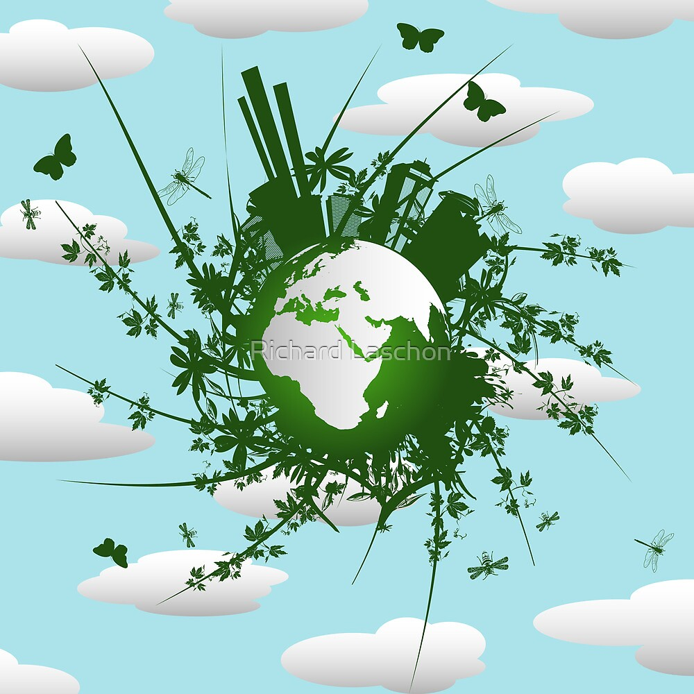 Eco friendly background by Richard Laschon