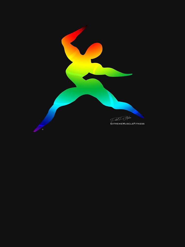 Cross Fit Training  Rainbow Dark by debradandrea