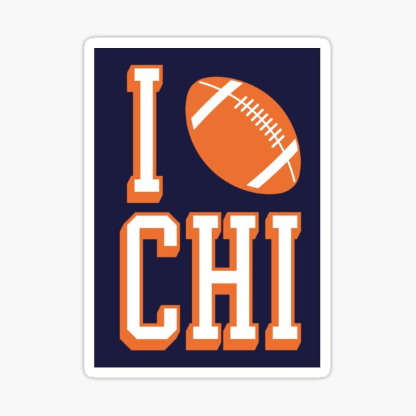 American Vinyl Oval DA Bears Sticker Football Bumper Chicago Fan Ditka Love