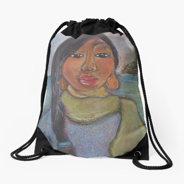 Pastel Portrait - S90 Drawstring Bag