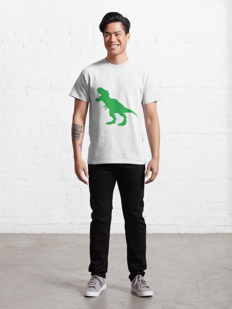 Alternate view of #Green #Dinosaur #GreenDinosaur Classic T-Shirt