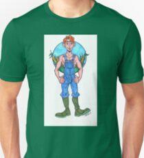 Farmboy with Cornfield Patch Unisex T-Shirt