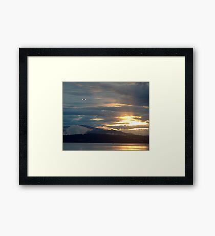 Landing at Sunset Framed Print