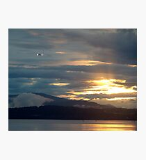 Landing at Sunset Photographic Print