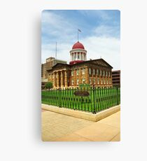 Springfield, Illinois - Old State Capitol Canvas Print