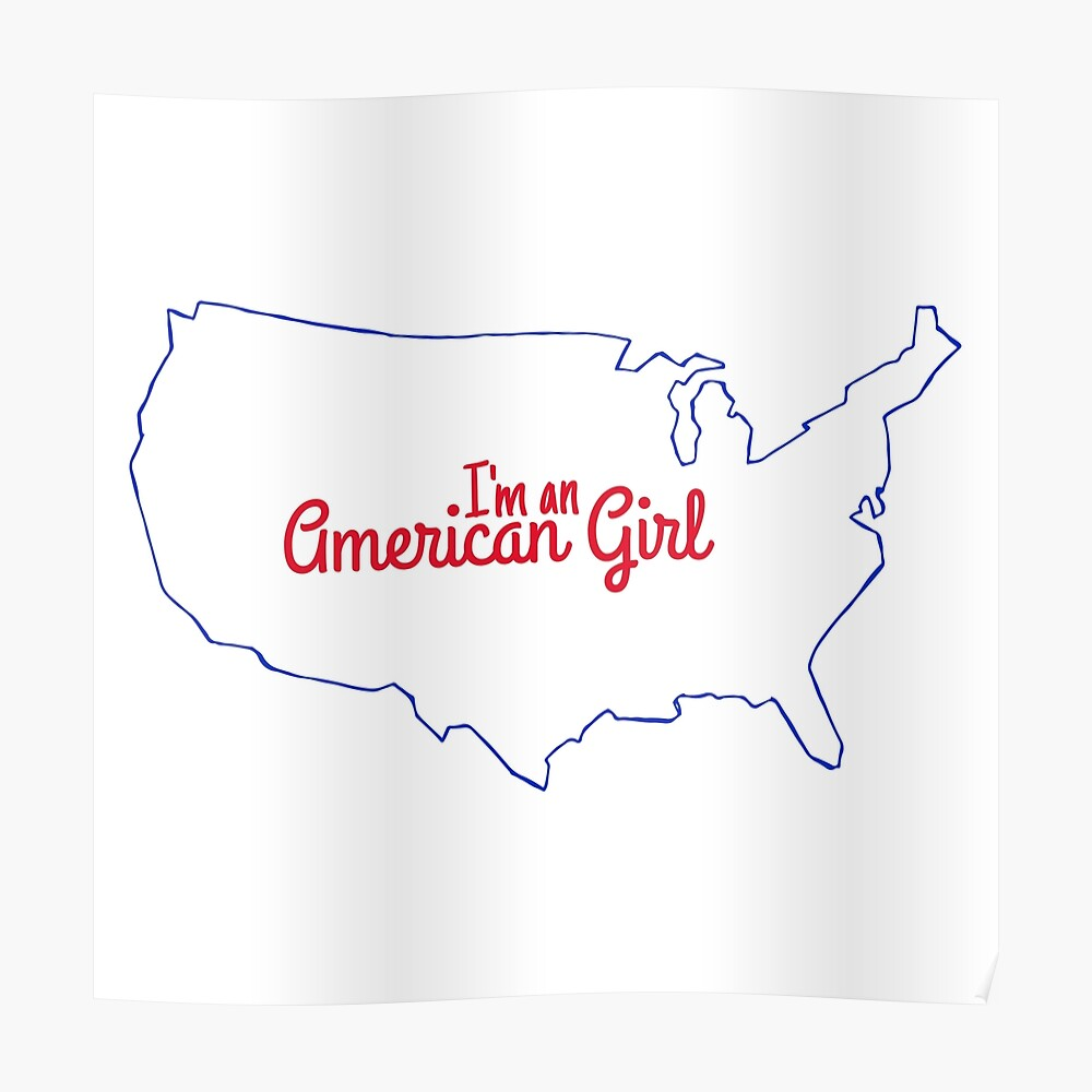 Soy una chica americana Póster