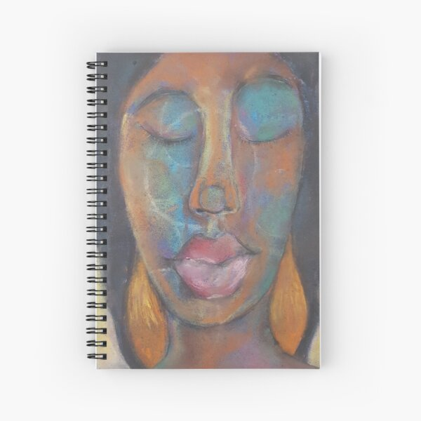 Pastel Portrait - S99 Spiral Notebook
