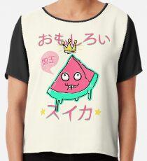 Juicy King Watermelon Chiffon Top