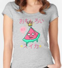 Juicy King Watermelon Fitted Scoop T-Shirt