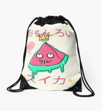 Juicy King Watermelon Drawstring Bag
