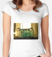 Old Glass Jars and Bottles Women's Fitted Scoop T-Shirt