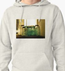 Old Glass Jars and Bottles Pullover Hoodie