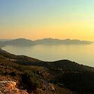 Mountain Top View - Myrtos Bay by Honor Kyne