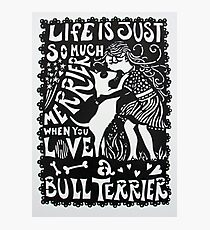 Bull Terrier Paper Cut Photographic Print