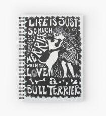 Bull Terrier Paper Cut Spiral Notebook