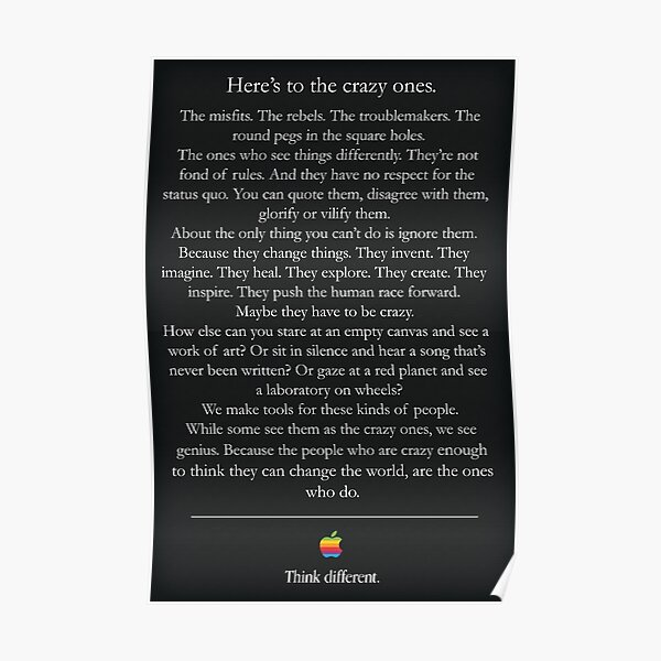 Think Different Poster