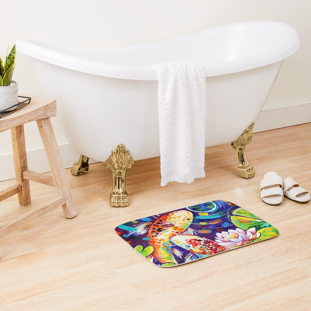 3 Koi Fish Bath Mat