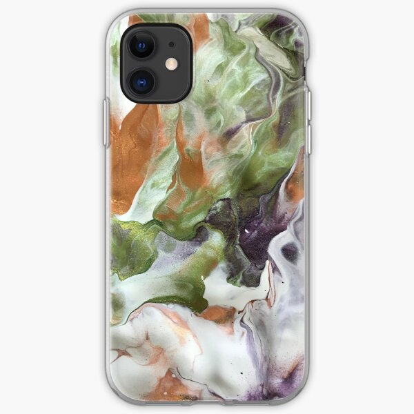 Poured Paint Pattern iPhone Soft Case