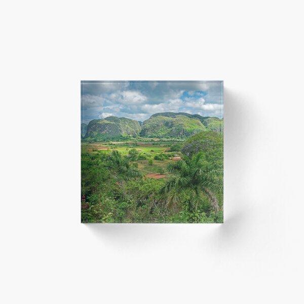 Vinales Countryside. Acrylic Block