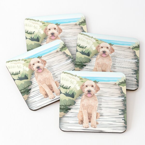 Doodle at the Beach Coasters (Set of 4)