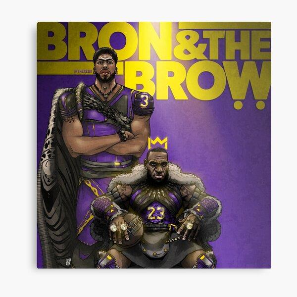 """""""BRON & THE BROW""""  Metal Print"""