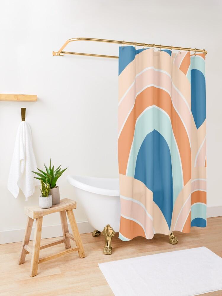 Alternate view of Rainbow valley Shower Curtain