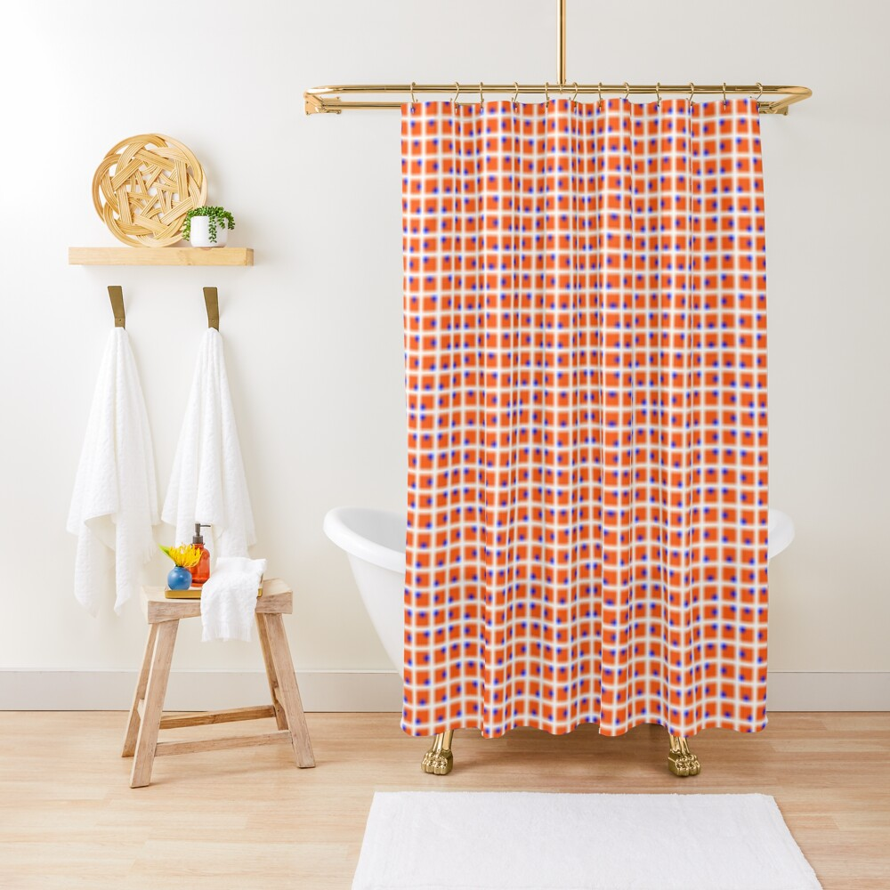 design, pattern, grid, tile, abstract, square, cotton, net, mosaic, textile, weaving, horizontal, color image, geometric shape, spotted, backgrounds, textured, seamless pattern Shower Curtain